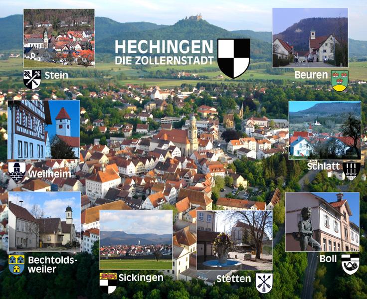 Hechingen und seine acht Stadtteile
