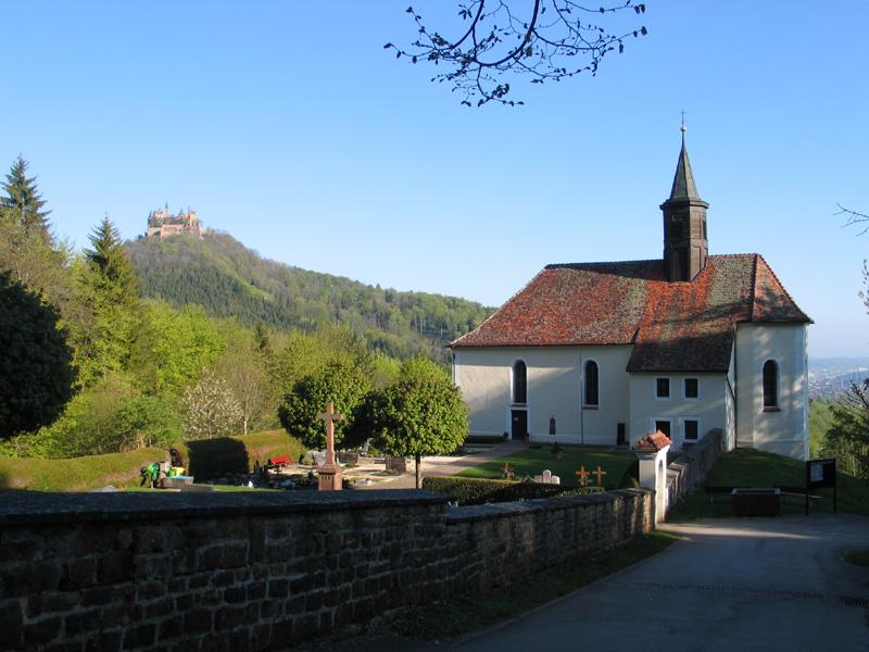 Hechingen: die Wallfahrtskirche Maria Zell bei Boll