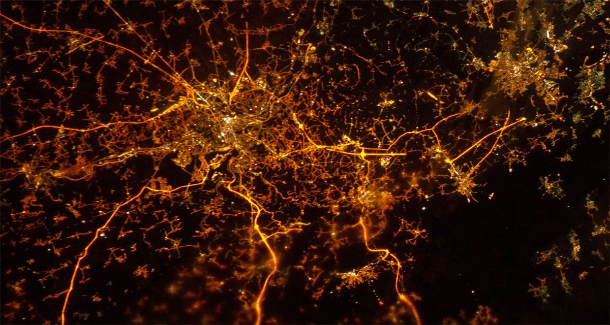 Belgien bei Nacht