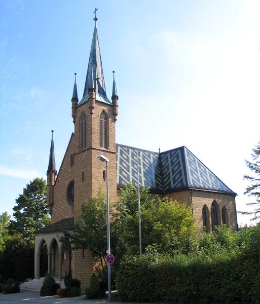Außenansicht evangelische Johanneskirche