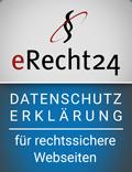 eRecht 24 Siegel Datenschutz