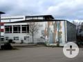 Außenansicht Turnhalle und Lehrschwimmbecken Schulzentrum Schlossberg