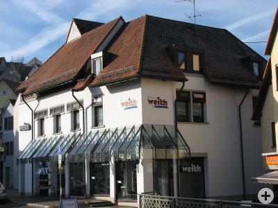 Schuhhaus im Zentrum der Hechinger Unterstadt