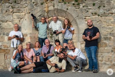 Gruppenfoto an der Klosterruine