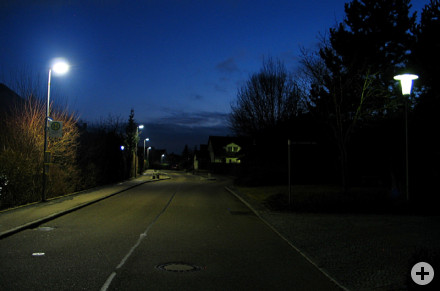 Neue LED-Straßenbeleuchtung im Wohgebiet Stockoch