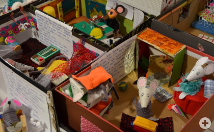 Schulkunstausstellung; Mäusehäuser-Mäuseträume