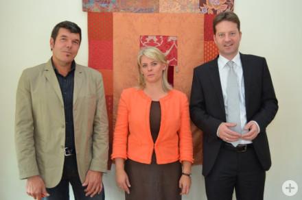 Stadtbaumeister Gert Gaebele, Frau Bürgermeisterin Dorothea Bachman, Erster Beigeordneter Philipp Hahn
