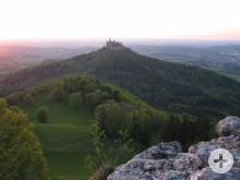 Hechingen: Blick vom Zellerhorn auf die Burg Hohenzollern