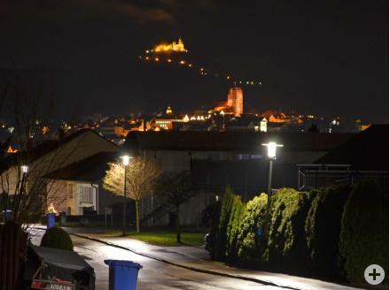 Hechingen bei Nacht