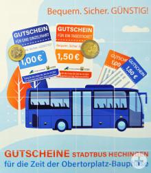 Stadt Hechingen - 1 Euro-Bustickets