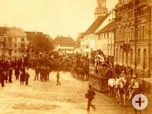 Fasnacht in Hechingen - Umzug um 1880 mit Prinz Karneval